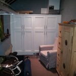 Tall larder cabinets a Wychert cottage Haddenham