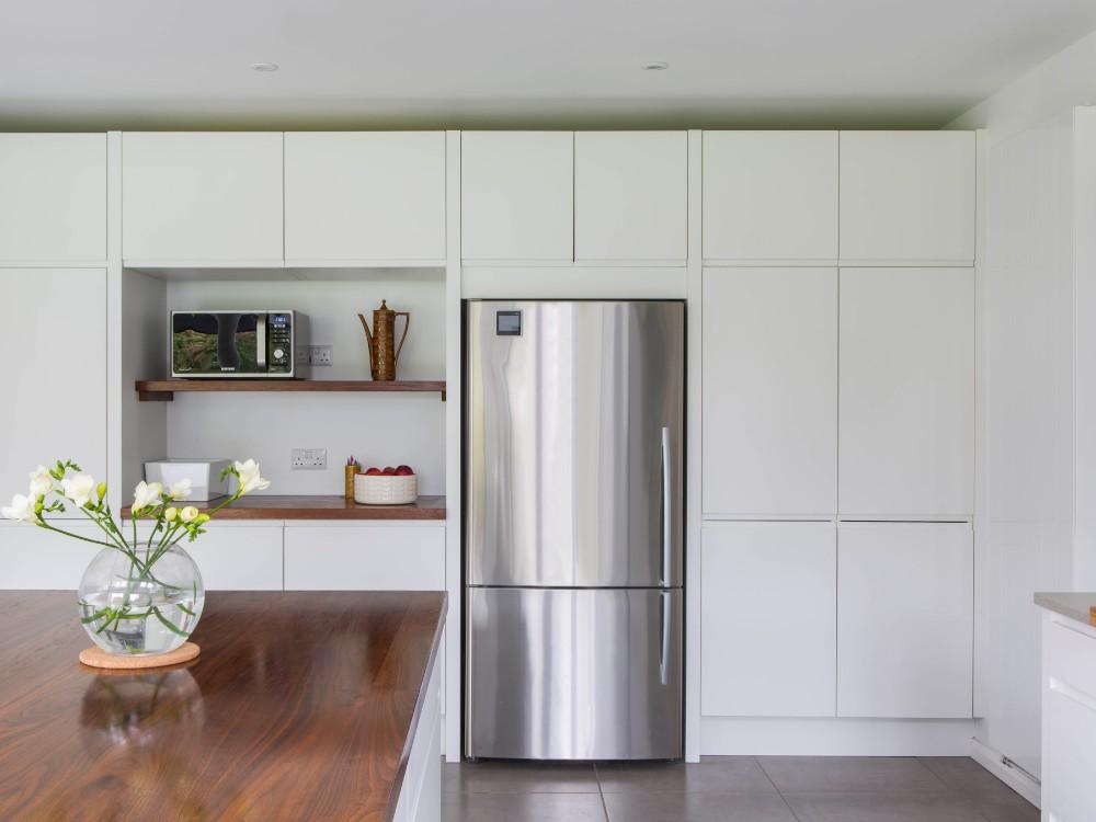 1stainless steel refrigerator walnut shelf handlele c2a6fce361262986ed9c390f71e95ca8