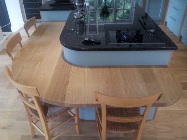 Dining table height curved breakfast bar oak handpainted granite chinnor hill oxfordshire 1024x767