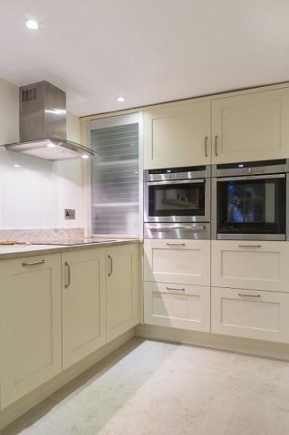 Glass tambour door appliance cupboard headington oxford 2