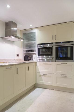 Glass tambour door appliance cupboard headington oxford