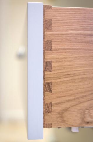 Handpainted dresser with oak drawers and glass doors amersham bucks 3 1 677x1024