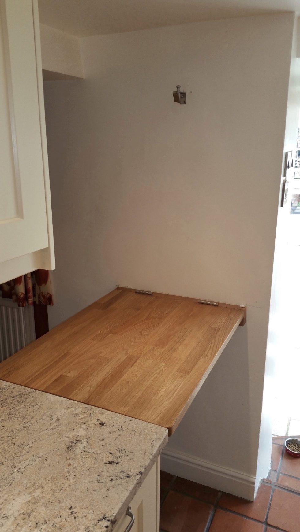 Kitchen blackboard bar flap oak granite watlington oxfordshire 2