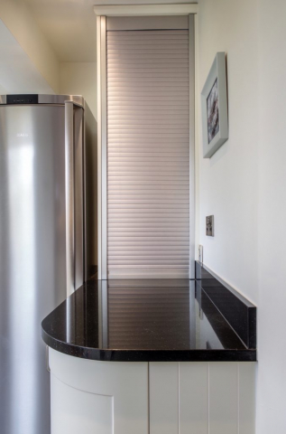 Stainless steel tambour door appliance storage long crendon buckinghamshire 2 2 677x1024