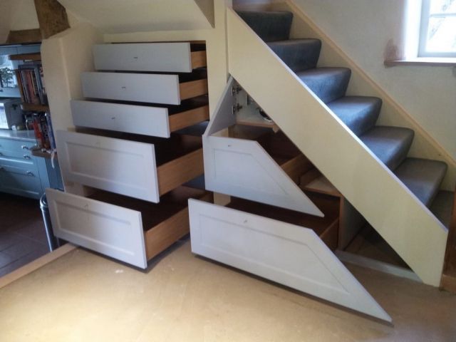 Under stairs storage drawers handpainted oak drawers chalgrove oxfordshire 1024x767
