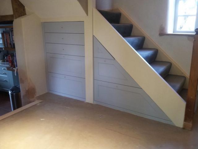 Under stairs storage drawers handpainted oak drawers chalgrove oxfordshire 2 1024x767