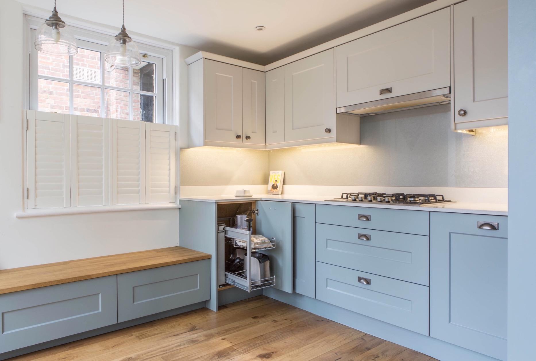 clever kitchen corner storage magic corner thame bespoke kitchen design oxfordshire 1