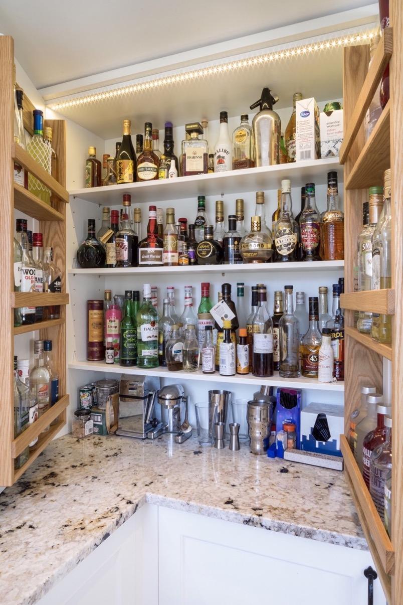 drinks cupboard with oak door racks princes risborough buckinghamshire