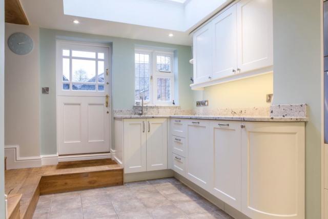 handpainted kitchen with skylight curved door kingsey longwick buckinghamshire 1024x683