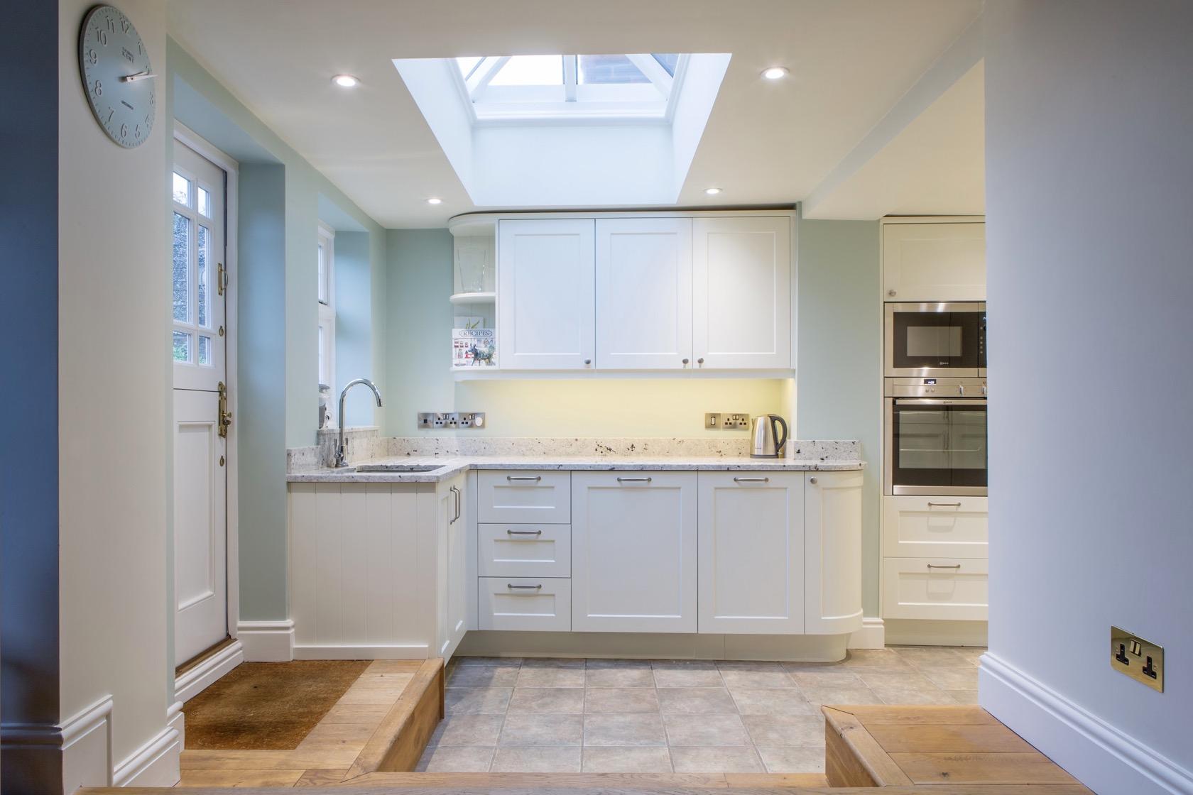 handpainted kitchen with skylight kingsey longwick buckinghamshire 1