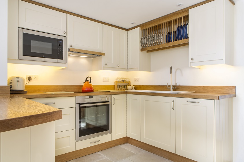 integrated wall cupboard microwave