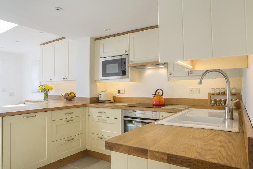 integrated wall cupboard microwave ceramic sink long marston buckinghamshire