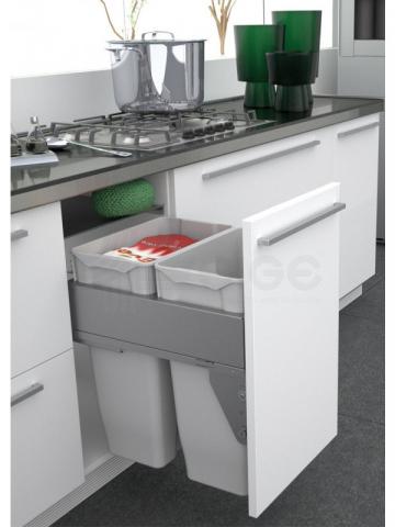 large integrated kitchen sorter bins thame
