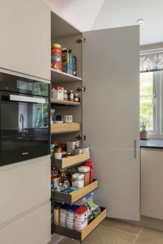 oak larder food drawer storage princes risborough longwick bespoke kitchen 682x1024