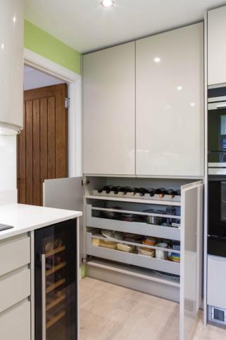oak larder food drawer storage princes risborough longwick bespoke kitchen aylesbury 682x1024