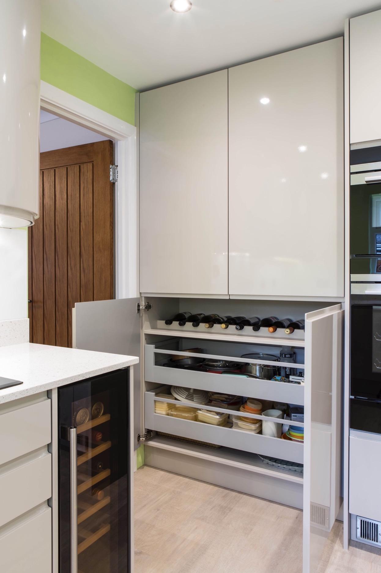 oak larder food drawer storage princes risborough longwick bespoke kitchen aylesbury