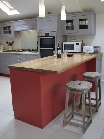 painted kitchen bespoke oxford oak worktops eye level oven corian worktops oxfordshire 766x1024
