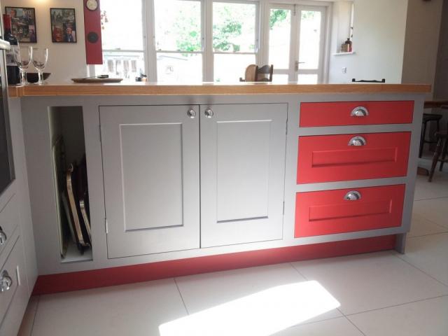 painted kitchen bespoke oxford oak worktops eye level oven oxfordshire 1024x767