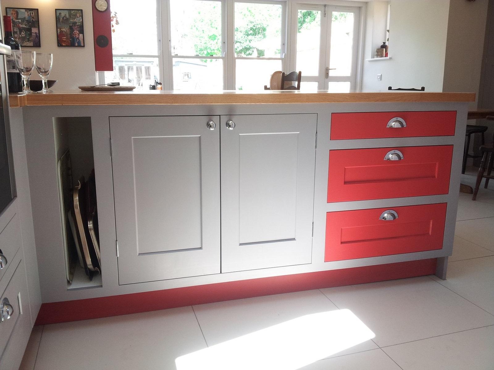 painted kitchen bespoke oxford oak worktops eye level oven oxfordshire