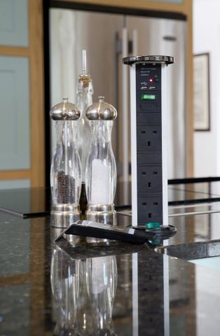 pop up plugs sockets kitchen island chinnor oxfordshire