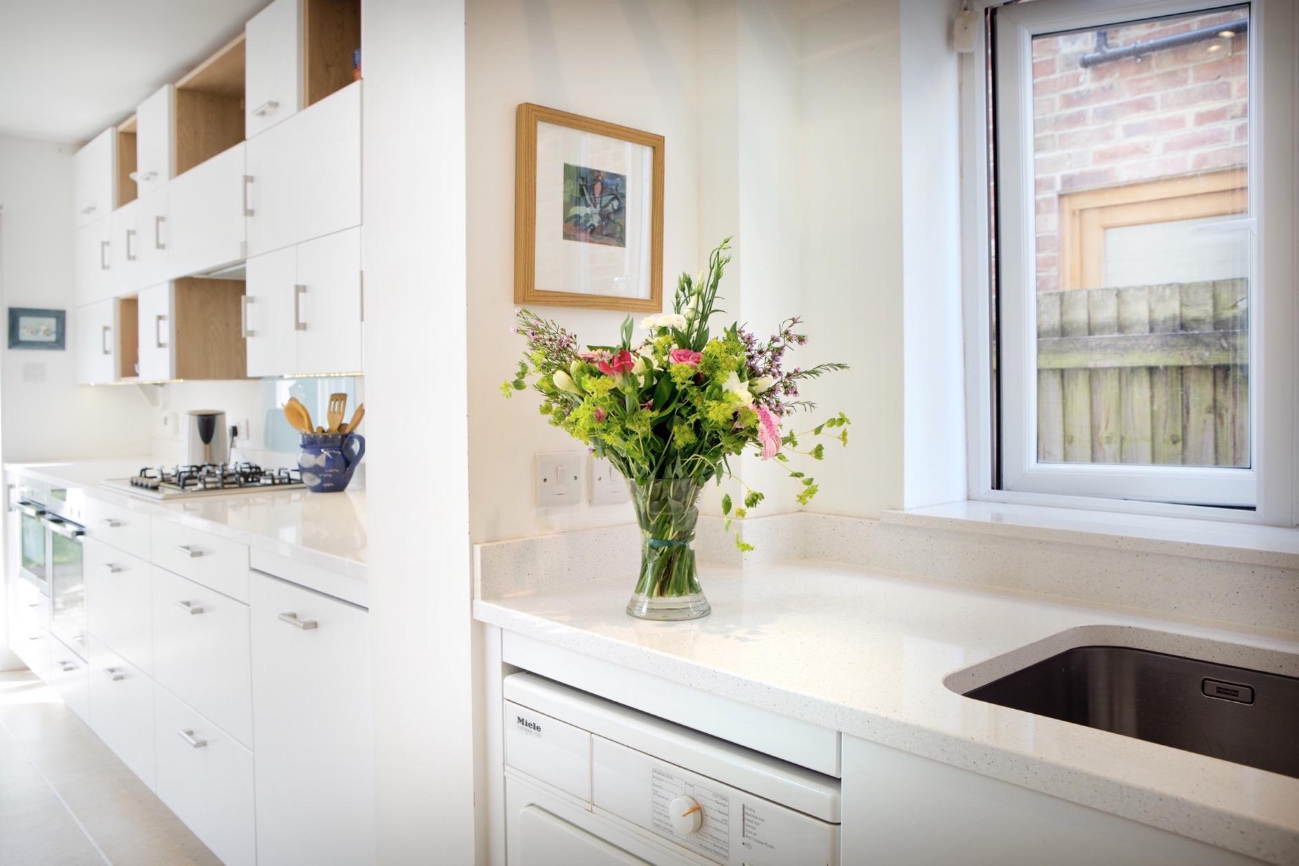 white kitchen modern light airy oxford oxfordshire 2